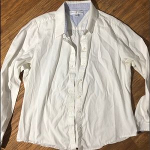 Long Sleeve Tommy Hilfiger White Button Up XL